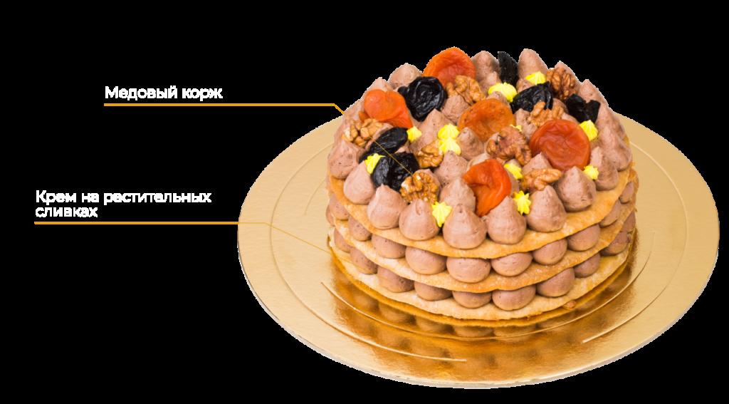 Торт медовый постный Восточные сказки 0,8 кг